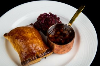 Individual Beef Wellington with Red Cabbage on the side