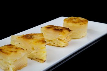 Plate of dauphinoise potatoes