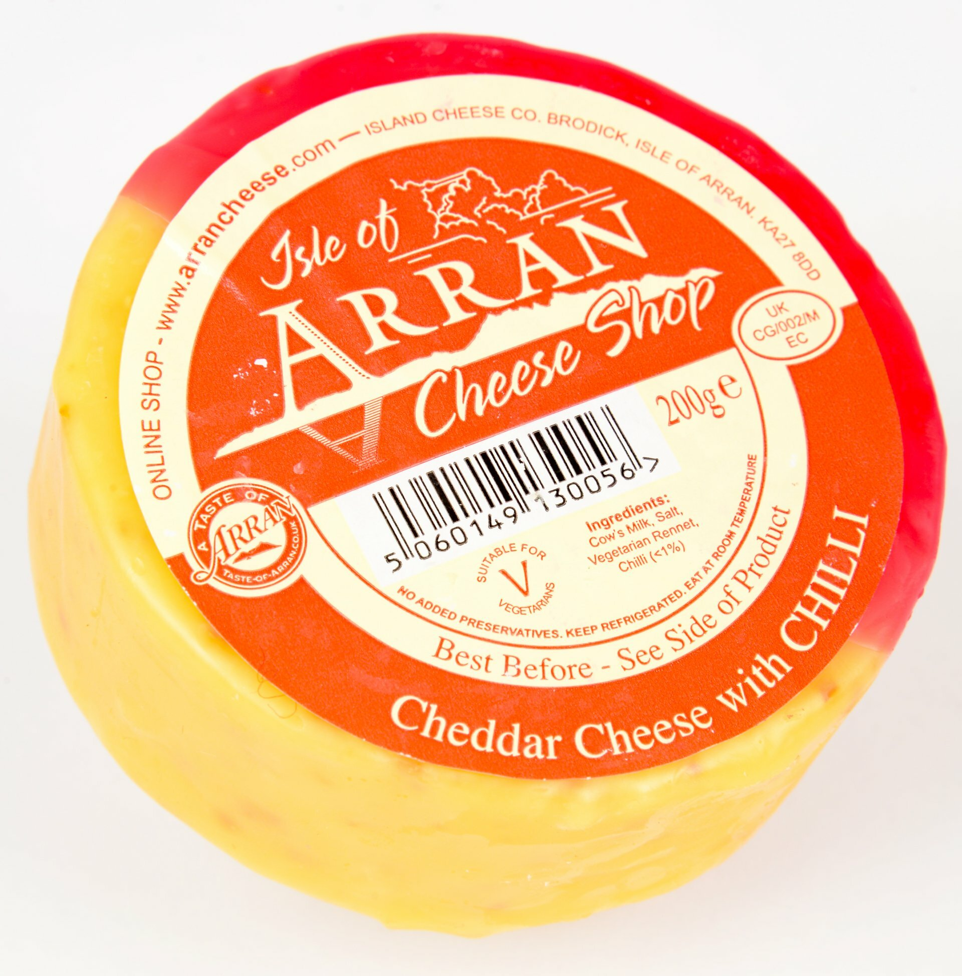 Cheddar with Chilli 200g