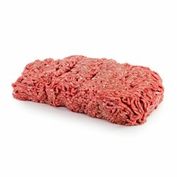 1kg minced beef on white table