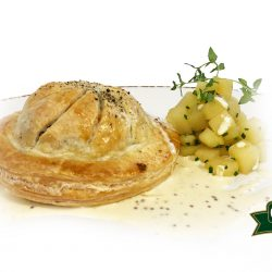 Haggis, Neeps and Tattie Pithivier with a Whisky Cream Sauce