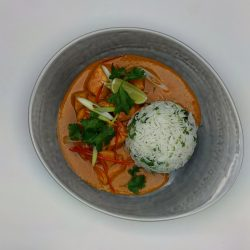 Thai Red Pheasant Curry, Jasmine Rice & Coconut