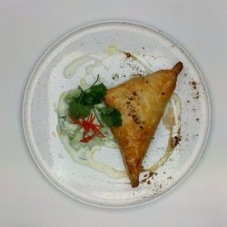 VEGETABLE SAMOSA & RAITA