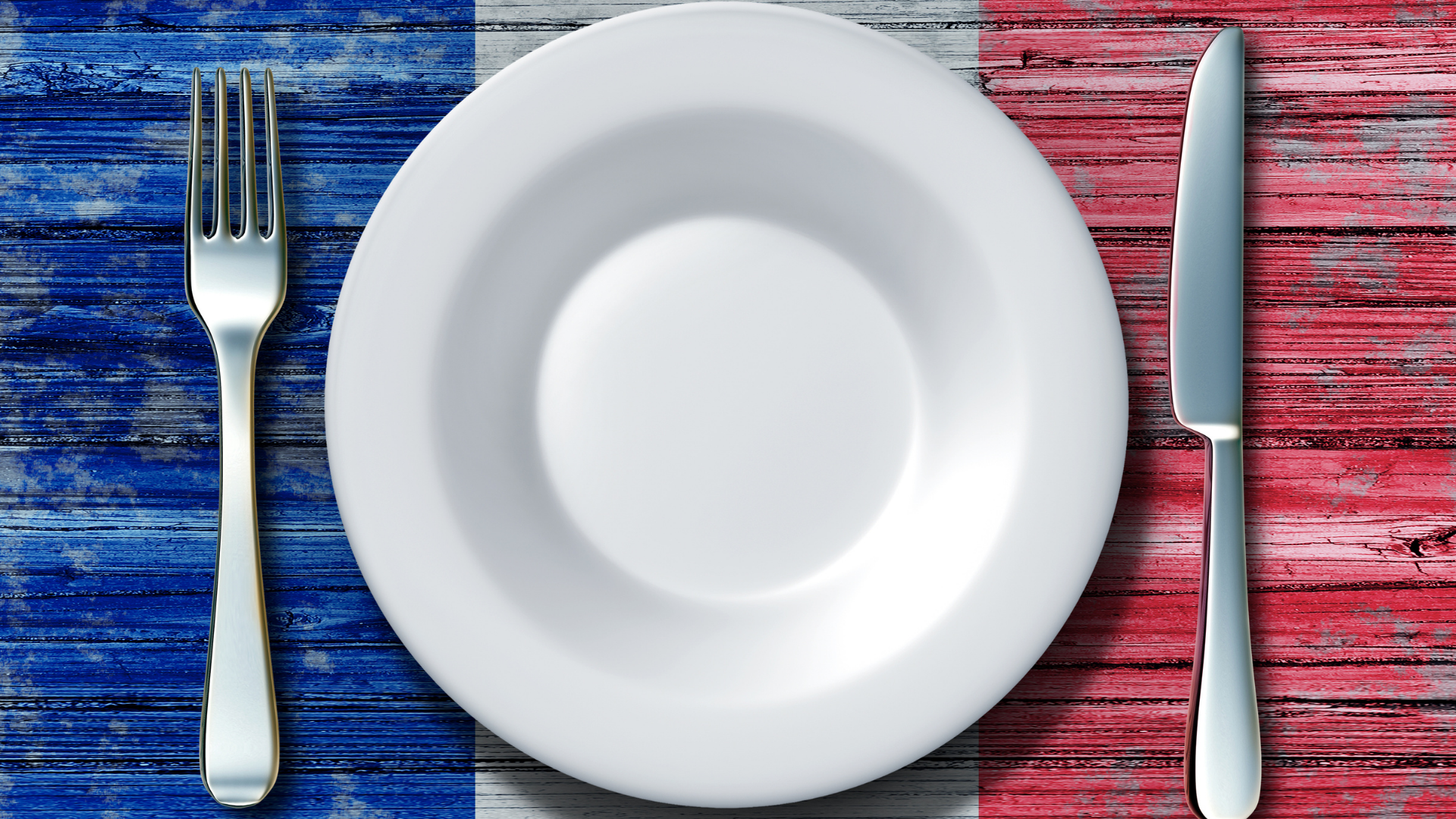 French Flag with dinner setting