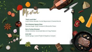 school dinner menu