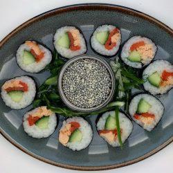 smoked salmon nori