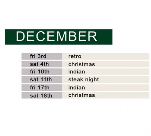 december demo & dine schedule