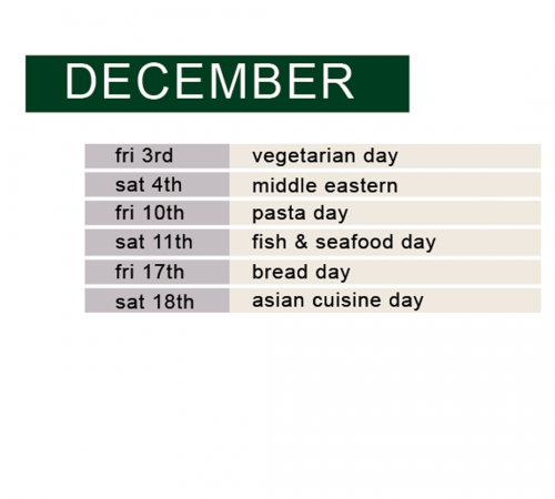 december full day schedule