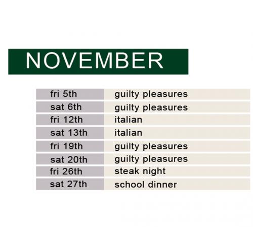 november demo & dine schedule