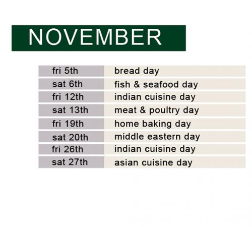 november full day schedule