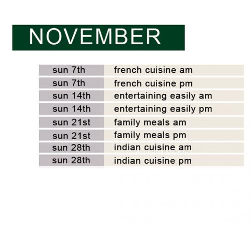 november half day schedule