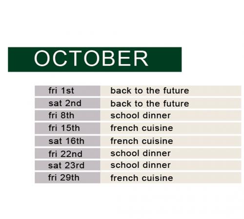 october demo & dine schedule