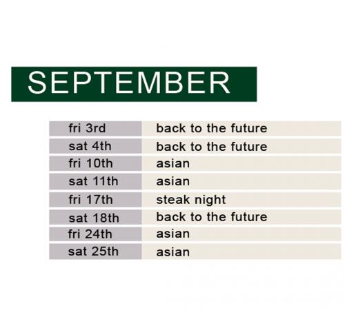 september demo & dine schedules
